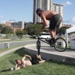 Scorp Dogg Barspinning // Nick Vergillo Posing // Texas Toast BMX Jam 2014