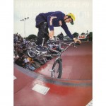 Chris Huber // Tooth-pick to Half-Barspin // 1995 King of Concrete // Photo: Kay Clauberg