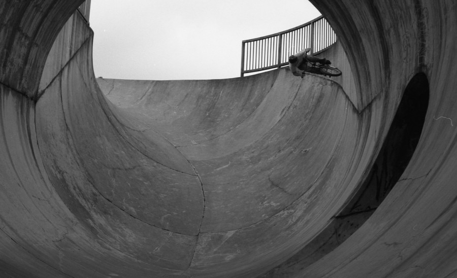 At speed into the full pipe - SMP Shanghai, China - Photo by Joe Rich
