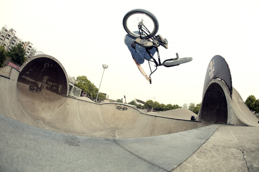 '...this is in one of the smaller bowls. Its probably about 9' deep...' - SMP Shanghai, China - Photo by Joe Rich