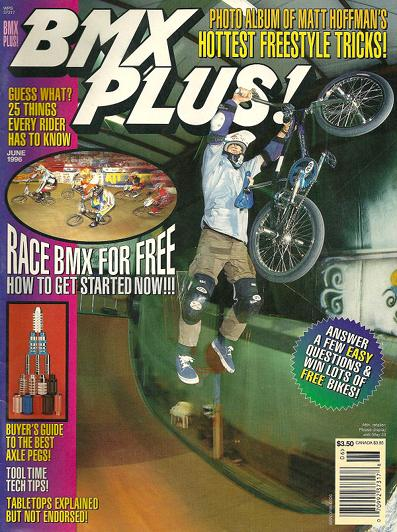 Mat Hoffman // BMX Plus // June 1996 // By Mark Losey