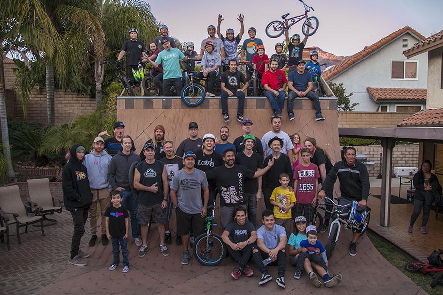 Group at Xavier Mendez Backyard Ramp // 2015 Photo: Matt Cordova