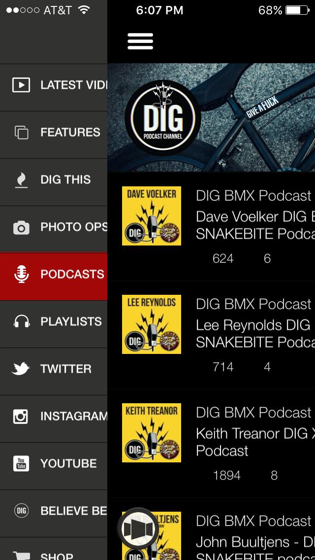 Dig BMX // Mobile App