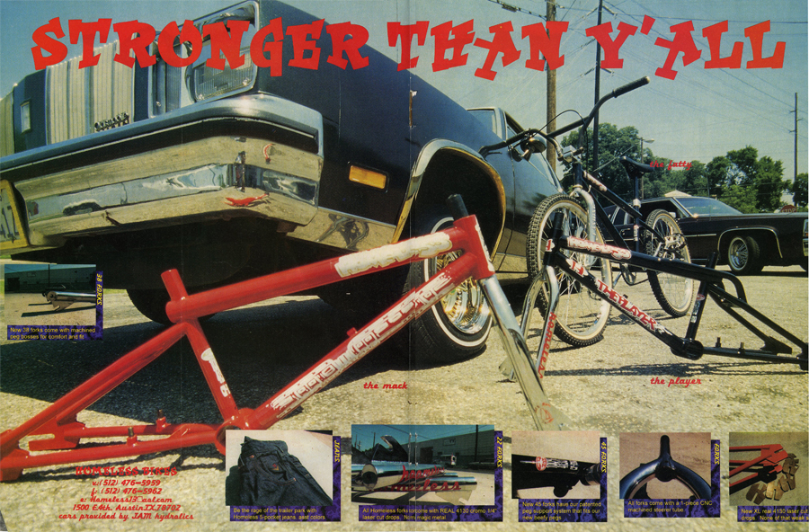 Homeless Bikes // Stronger Than Y'all Ad // Ride BMX // 1995