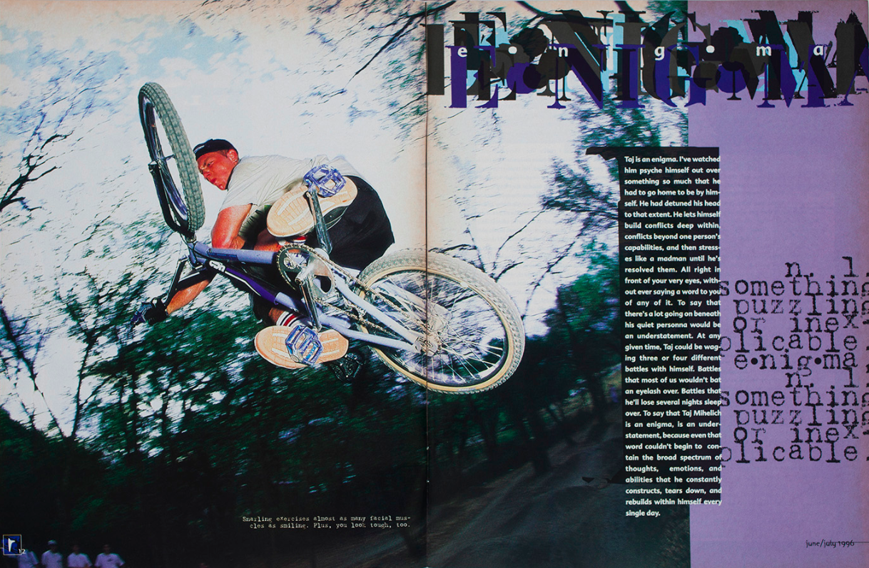 Taj Mihelich // Tabletop // Ride BMX // Issue 22 // June-July 1996
