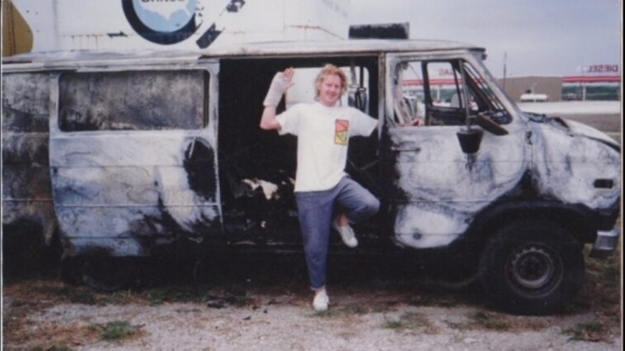 Kevin and the burned out 1989 Haro van