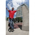 Dave Nourie hits an ant rider on his Haro Freestyler 30th Anniversary