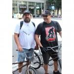 The Mayor of Portland Joe Loumena and Gary Sansom from BMX Museum // 2014 Portland Dew Tour
