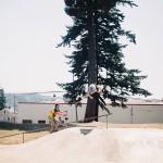 Ryan Barrett // Tireslide to 180 // Myrtle Point, OR Skatepark-Boicott BMX Weekend