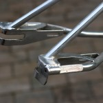 1987 Zeronine Ultra Frame dropouts at BMX Museum Portland
