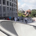 Travis Lyons // Corner Air Bermslider // House Park // Texas Toast BMX Jam 2014
