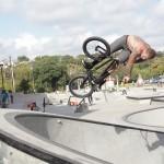 Travis Lyons // Corner Air Turndown // House Park // Texas Toast BMX Jam 2014
