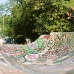 Riley Peetz // Can-can Footplant // Amazon Skatepark // Eugene, OR // By Shad Johnson