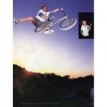 Taj Mihelich // One-Foot Seat-grab X-up // Taj Bike Test // Ride BMX // Photo: Brad McDonald
